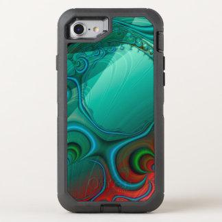 Fractal das reflexões da cerceta capa para iPhone 7 OtterBox defender