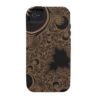 Fractal de creme bonito do tom de Brown Capa Para iPhone 4/4S