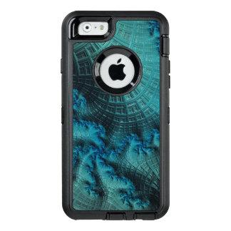 Fractal de matiz verdes em OtterBox para o iPhone