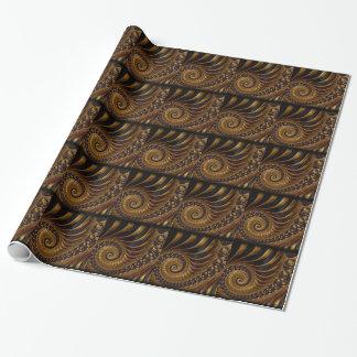 Fractal do chocolate papel de presente