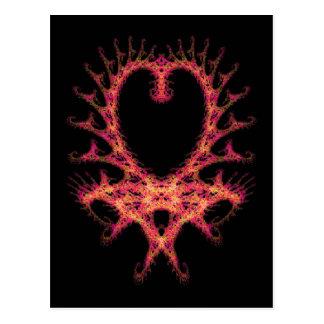 Fractal do coração cartão postal
