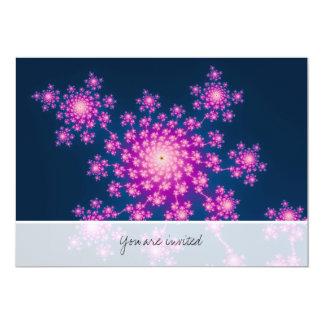 Fractal do feliz ano novo convite personalizados