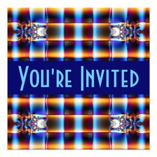 fractal do marrom azul convites personalizado