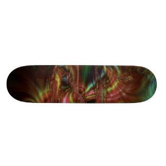Fractal escuro do borrão shape de skate 18,1cm