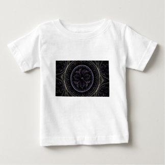 Fractal floral camiseta para bebê