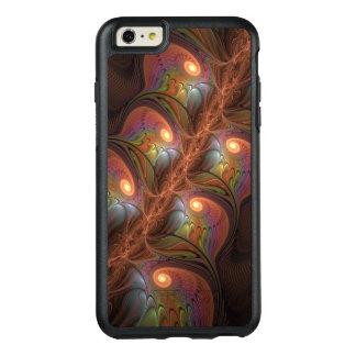 Fractal moderno abstrato fluorescente colorido de