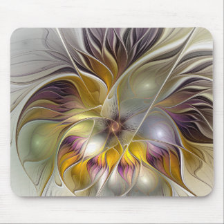 Fractal moderno da flor colorida abstrata da mousepad