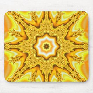 Fractal Mousepad da estrela do ouro