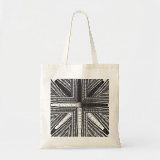 Fractal preto e branco da nostalgia bolsa para compra