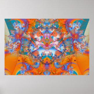Fractal psicadélico da ponte do arco-íris poster