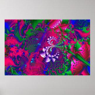 Fractal psicadélico de Nerdberries Poster