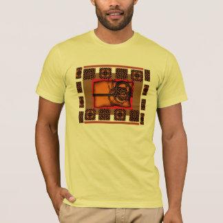 Fractal queimado camiseta