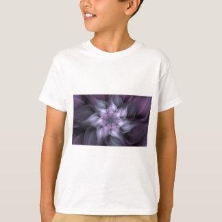 Fractal roxo camiseta