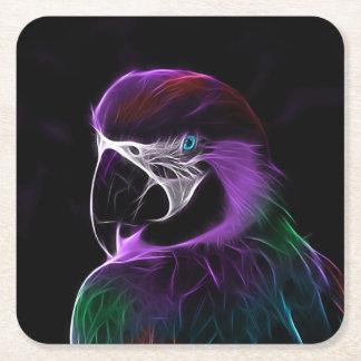 Fractal roxo do papagaio de Digitas Porta-copo Quadrado