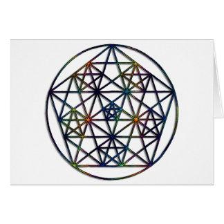 Fractal sagrado da geometria da abundância da vida cartão comemorativo
