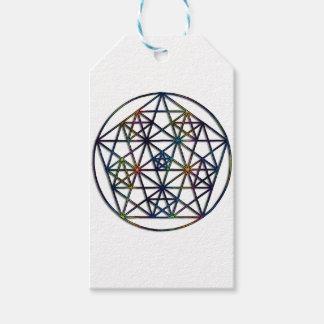 Fractal sagrado da geometria da abundância da vida etiqueta para presente