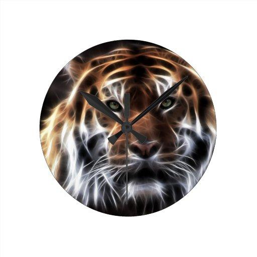 Fractal_Tiger_.jpg Relógios De Pendurar