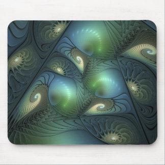 Fractal verde bege da fantasia de turquesa das mousepad