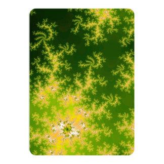 Fractal verde de incandescência convites personalizado