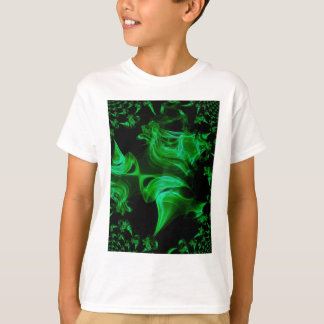 Fractal verde do cetim camiseta
