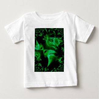 Fractal verde do cetim camiseta para bebê