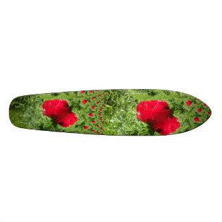 Fractal vermelho da papoila skates
