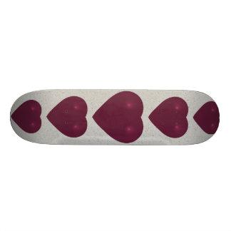 Fractal vermelho do coração shape de skate 18,1cm