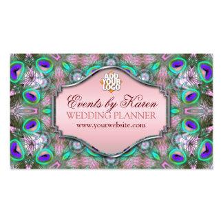 Fractals do pavão que Wedding cartões de visitas d
