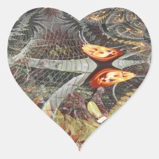 Fractals Illusionary de uma abóbora Adesivo Coração
