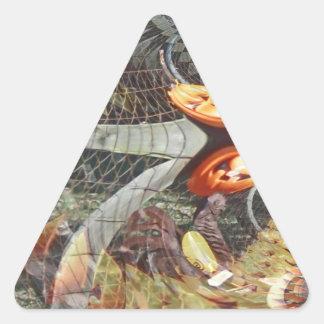 Fractals Illusionary de uma abóbora Adesivos Em Forma De Triângulo