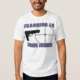Fragging é camiseta séria do negócio