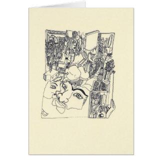 Fragmenta d'Arts 1 cartão surreal do desenho