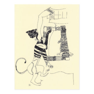 Fragmenta o cartão surrealista do desenho dos cartão postal