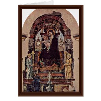 Fragmento de Madonna por Cossa Francesco Del Cartão