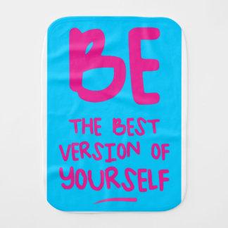 Fralda De Boca BE THE BEST VERSION OF YOURSELF, blue