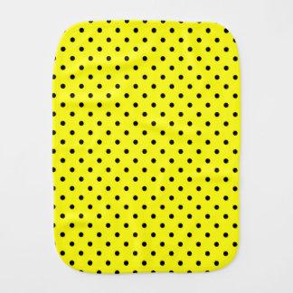 Fralda De Boca Bolinhas pretas amarelas