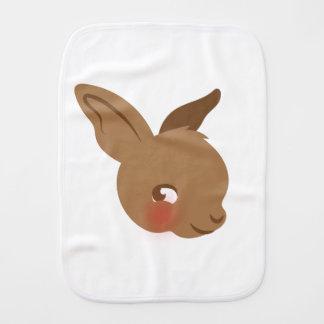 Fralda De Boca cara marrom do coelho do bebê