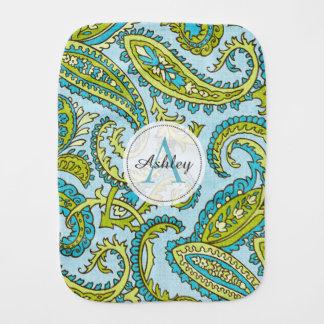 Fralda De Boca Chique na moda de Boho do Aqua colorido de Paisley