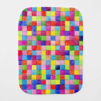 Fralda De Boca Colorido em quadrados do papel de gráfico
