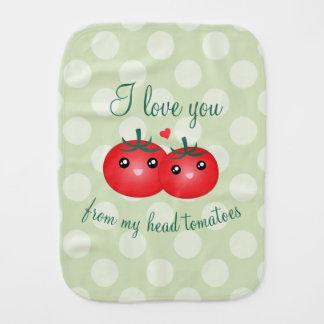 Fralda De Boca Eu te amo de minha chalaça engraçada da fruta dos