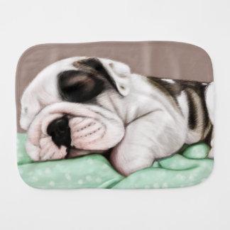 Fralda De Boca Filhote de cachorro do buldogue do sono