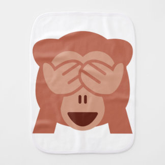 Fralda De Boca Hide and seek Emoji Monkey