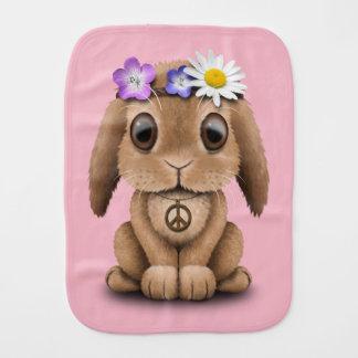 Fralda De Boca Hippie bonito do coelho do bebê