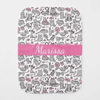 Fralda De Boca Ideias cor-de-rosa e cinzentas de Whimiscal dos
