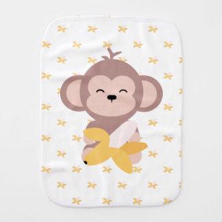Fralda De Boca Macaco bonito de Kawaii com o pano do Burp do bebê
