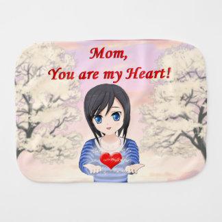 Fralda De Boca Mamã, você é meu coração (customizável)
