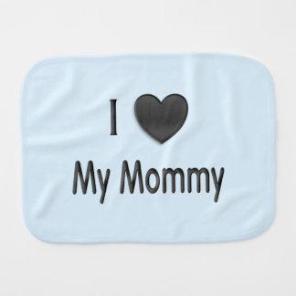 Fralda De Boca Mim coração meu azul das mamães