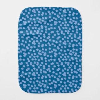 Fralda De Boca Pano azul do Burp das bolinhas