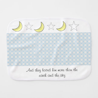 Fralda De Boca Pano do burp da lua e do bebé das estrelas