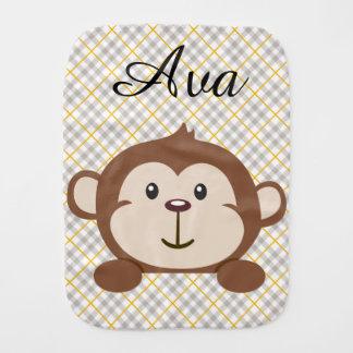 Fralda De Boca Pano personalizado do Burp do macaco